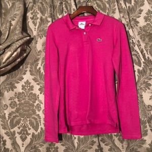 Lacoste Hot Pink Long sleeve Polo
